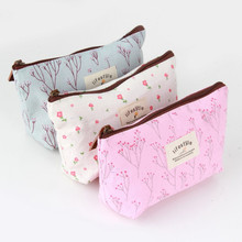 1Pc Vintage Flower Floral Pencil Pen Canvas bag Cosmetic Makeup Storage Pouch bag Case Purse Promotion Hot Selling