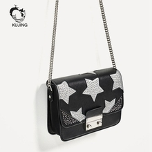 KUJING Fashion Handbags High Quality Luxury Women Shoulder Messenger Bag Hot Ladies Bag Multi-function Shopping Leisure Handbag