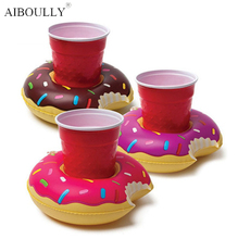 Cute Funny Toys Red Flamingo Floating Inflatable Drink Holder Swimming Holder Stand Pool Bathing Beach Party Kids Bath Toy