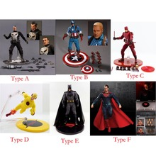 "Movie One:12 Collective 6"" Action Figure Flash Captain Batman Superman The Punisher No Box Free Shipping(China)"