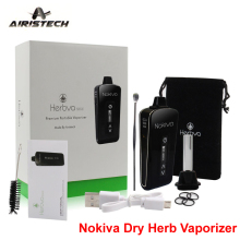 Airistech Erva seca Vaporizador Original Nokiva Kit Ecig 2200 mAh OLED Touch Screen Sub Ohm Vape Herbal Pen Eletrônico TC cigarro
