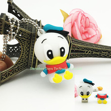 Full capacity usb flash drive Donald Duck cartoon pen drive 4GB flash drive stick 8gb pendrives 16gb usb flash disk 32gb drives