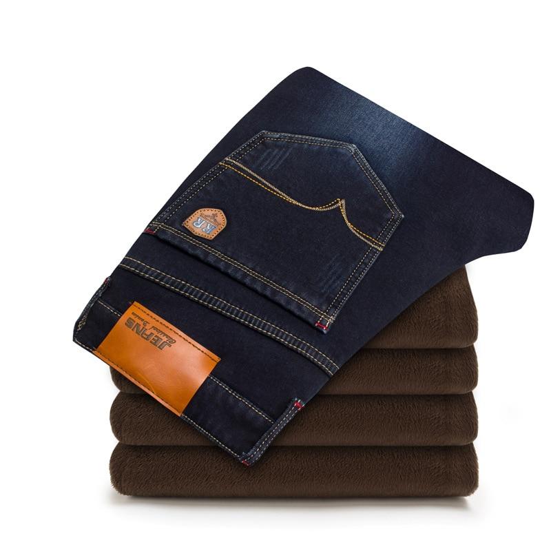 2017 Winter Brand jeans men Fashion warm elasticity jeans high quality male pants trousers jeans for men Plus size 42 Îäåæäà è àêñåññóàðû<br><br>