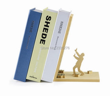Free Shipping 1Piece Fashion Style The End Bookend Read Books Holder Prop Hold Up Library Sleff Decoration Fun