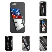 Soft TPU Silicon Cases Cover BMW M Power For Apple iPhone 4 4S 5 5C SE 6 6S 7 7S Plus 4.7 5.5