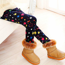 2017 High quality Winter Autumn KidsThick Warm Trousers Girls Leggings Pants Children Clothing Flower Butterfly Girls Pants