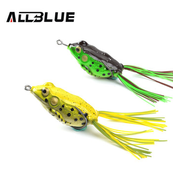 Allblue High Quality Kopper Live Target  Frog Lure 58mm/12g Snakehead Lure Topwater Simulation Frog Fishing Lure Soft Bass Bait