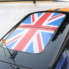 Red Union Jack PVC Car Sunroof Semitransparent Stickers Wrap Roof Film Vinyl Decals For MINI Cooper R55 R56 R57 R58 R59 R60 R61(China)