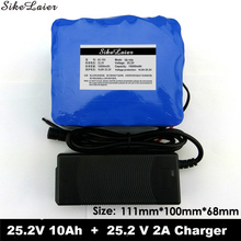 24 V 10 Ah 6S5P 18650 Battery Lithium Battery 24V Electric Bicycle Moped / Electric / Li-ion Battery + 25.2V 2A Battery Charger(China)