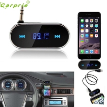 New Practical Car Kit Wireless FM Transmitter MP3 Player USB SD LCD Remote Handsfree OCT26