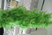 Free shipping 20pcs Lime green 40gram Chandelle Feather Boas Marabou turkey Feather Boa for costumes party decor event decor(China)