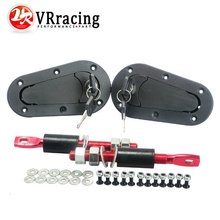 VR RACING- JDM D1 Plus Flush Hood Latch and Pin Kit Racing Latch Locks Locking Hood Kit VR-BPK-D21