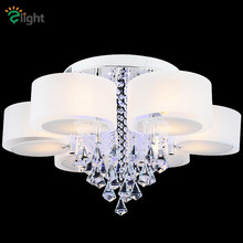 Modern Lustre De Cristal Remote Control Round Dimmable Chandelier Led Glass Acrylic Chandelier For Living Room
