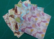 Lovely Forest Bird Dragonfly & Peacock Printed Nonwoven Polyester Felt Fabric 15x15cm, Fieltro feltro