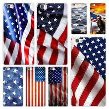 american flag White Coque Shell Case Cover Phone Cases for Huawei P7 P8 P9 P10 Lite Mate s 7 8 9