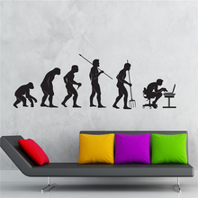 Wall Decal Gamer Evolution Video Game Kids Room Vinyl Stickers Art Mural Home Decor Wall Stickers  T485
