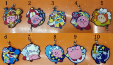 10pcs/set Genuine anime  game Super Mario Star Kirby  pvc figure phone strap/keychain pendant free shipping