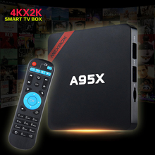 NEXBOX A95X TV Box Android 6.0 Smart 2GB RAM Amlogic S905X Quad core 64 Bit Cortex A53 4K 2.4GHz WiFi Set Top - Milly Electronics store