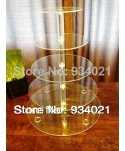 Cake Display Stand Plexiglass display holder free shopping Modern 5 Tier Acrylic Wedding Cake Party Cupcake Stand decoration