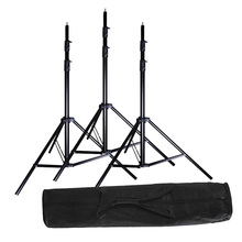 3x 2.8m / 9.2ft Studio Heavy Duty Light Stand + Carrying Bag Kit 280cm for Lighting Strobe Flash Video Lights Softbox(China)