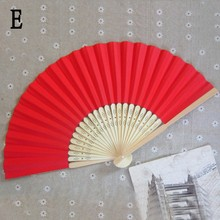 Chinese Style Outdoor Wedding Party Favor Bamboo&Paper Pocket Fan Folding Hand Held Fans
