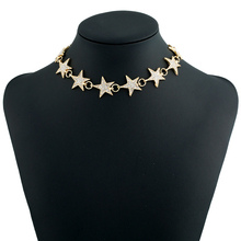 12 pcs/lot New five - pointed star necklace