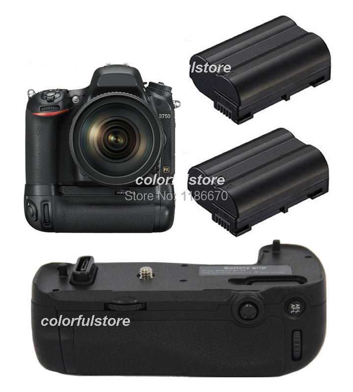 Hot Sale Battery Handle Hand Grip Pack Holder 2-Step Vertical Power Shutter For Nikon D750 SLR DSLR Camera as MB-D16+2 x EN-EL15<br><br>Aliexpress
