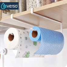Creative Toilet Paper Holder Roll Holder Detachable Portable Towel Kitchen Cupboard Door Storage Paper Rack Kitchen Organizer