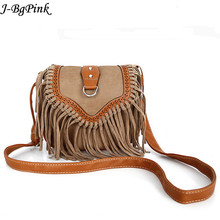 Bohemian bag Boho Free Spirit Tassel Cross Body Purse Retro Hippie Designer Women's Gypsy Fringe Bohemian Shoulder Bag(China)