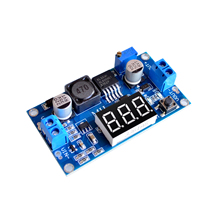XL6009 Boost Step-up Module Power Supply LED Voltmeter Adjustable boost module with digital voltage meter display