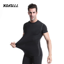 Kofull New Running Men Golf Training Shirts Fitness Tight Underwear Bodybuilding Fitness Sport Jerseys Yoga Short Sleeve Clothes