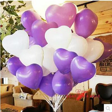 Best quality 20pcs/lot 2.2g Latex balloons heart shaped Thickening Pearl balloons Wedding Party Birthday supplies purple white