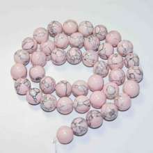 "Wholesale Aaa + Pink Natural Stone Beads For Jewelry Making Beads Diy Bracelet Necklace 4 / 6 / 8 / 10 / 12MM 15 ""Strand"