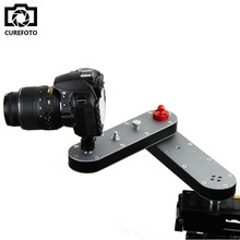 Portable DSLR Camera Video Slider Rail Track with Panning and Linear Motion 4x Distance for DSLR GoPro Action Cameras Smartphone(China)
