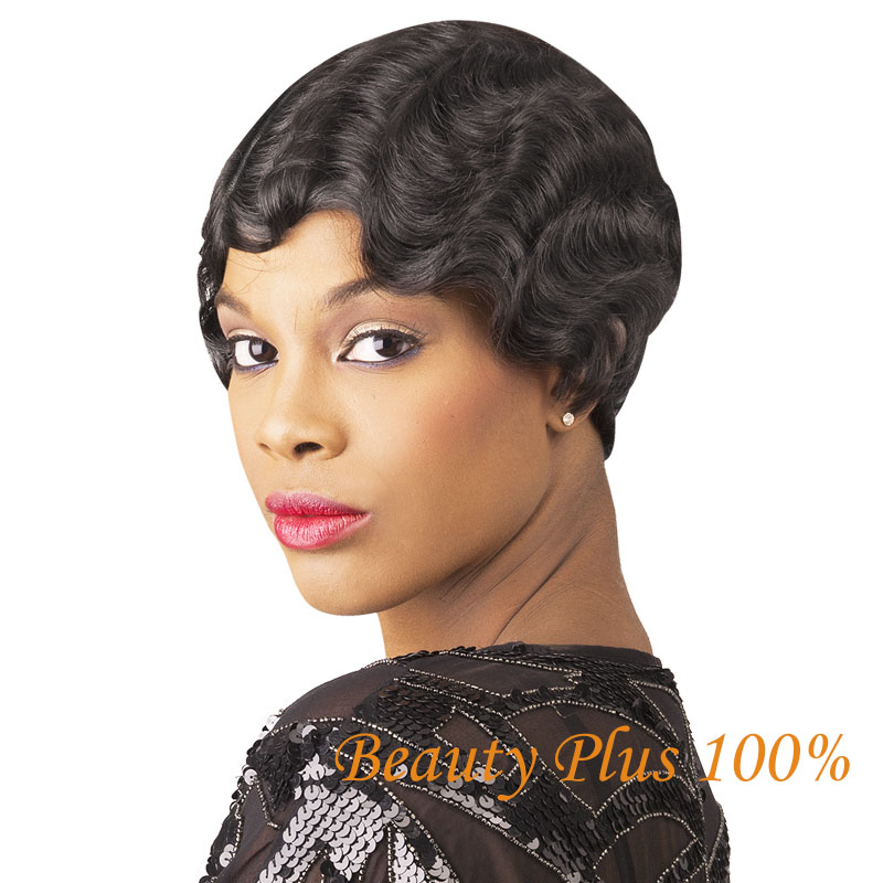 2015 Cheap Wig Women Ladys Cheap Short Black Curly Hair Wig + Wig New Gift Heat Resistant Synthetic Hair Natural  Wigs<br><br>Aliexpress