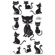 King Horse Watertight black animal tattoo stickers sexy cute kittens Temporary Tattoo Sticker