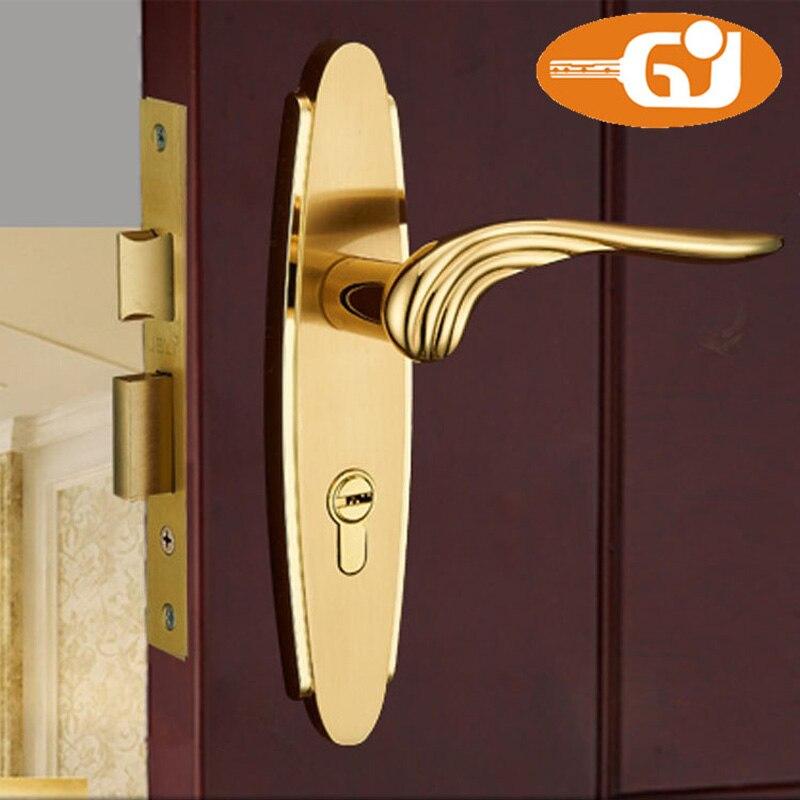 Luxury Europe Classic Golden Door Lock Room Mortise lock Full Set<br>