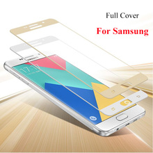 Buy Full Cover Tempered Glass Samsung Galaxy A7 A5 2016 A7100 A5100 S6 S5 Colorful Screen Protector Toughened Protective Film for $1.02 in AliExpress store