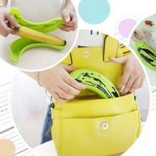 1pcs High Quality Banana Protector Case Container Trip Outdoor Lunch Fruit Box Storage Holder Cheap Banana Trip Outdoor Box
