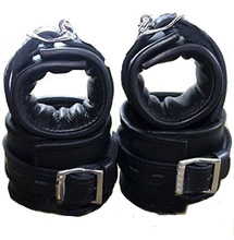 Leather Handcuffs Anklecuffs,Soft Padded Hand Cuffs Ankle Cuffs,Sex Bondage Restraints BDSM Sex Toys For Couple