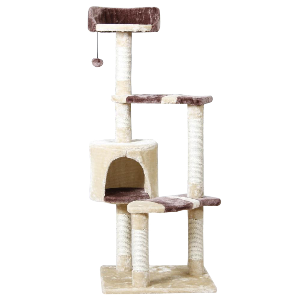 Domestic Delivery Pet Playing Toy Cat Climbing Frame Kitten House Cat Training Furniture Scratching Post Pet Product Supplier(China)
