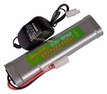 1x 9.6V NiMH 3800mAh Rechargeable Battery Pack Tamiya Plug + Charger US/ EU/AU/UK Plug Adapter(China)