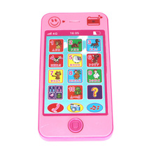 Russian/English 2 Languages Baby Toy Phone Kids Children's Educational Simulation Music Mobile Phone The Latest Cellphone(China)