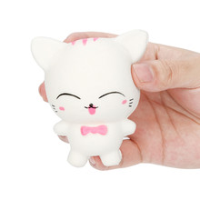 Mini Cat Squeeze Cartoon Little Cat Squishy Slow Rising Scented Relieve Stress Toy Gifts Finger Training Nice Gift(China)