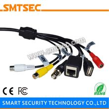 SMTSEC SIP-E-BG Cable BG RJ45+BNC+DC+USB+Audio Input+Audio Output for SIP-E Series IP Camera Module Single Board