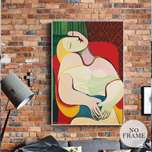Abstract Picasso Painting Posters And Prints Canvas Painting Art Wall Pictures For Living Room Luxury Home Decor Oil Painting(China)