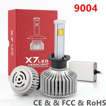 2PIECE 120 W super bright LED Bulb Lights 9004  9600LM  Car LED Lamp 9004 LED Flashlight High Light Car Crossing lighthouse