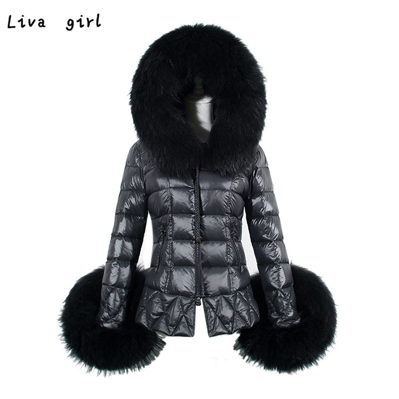 2016 New Winter Coat Women Down Cotton Parka Faux Fur Collar Hooded Lady Coat Quilted Jacket Thicking Zipper Warm Coat Oct19Одежда и ак�е��уары<br><br><br>Aliexpress