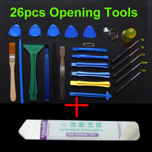 26 in 1 Opening Tools Repair Tools Phone Disassemble Tools set Kit For iPhone iPad HTC Cell Phone Tablet PC(China)