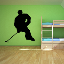 Hockey Player Winter Pop Sport WALL ART GRAPHIC STICKER DIE CUT VINYL DECAL HOME BEDROOM DECOR STENCIL MURAL